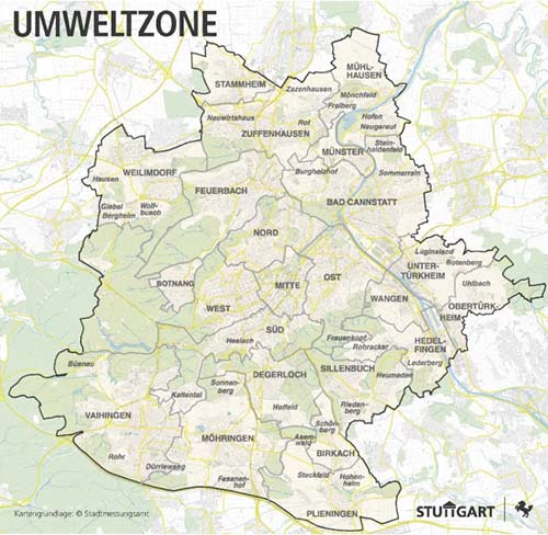 Umweltzone Diesel Fahrverbot Stuttgart