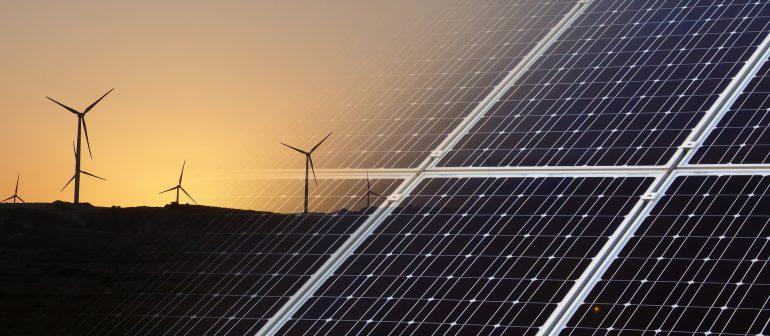 Solaranlage-Windanlagen