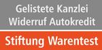 Stiftung Warentest gelistete Kanzlei Widerruf
