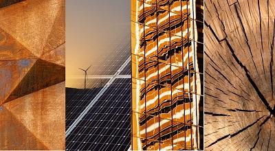 Gold-Windkraft-Holz