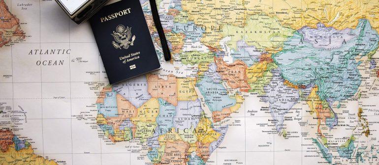 Weltkarte-Pass-Foto