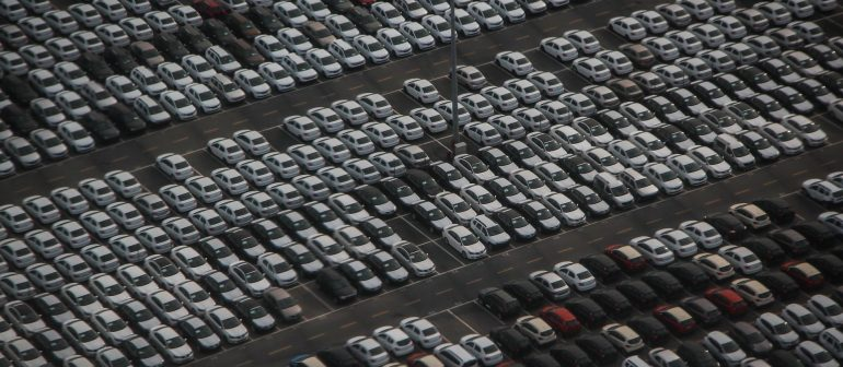 Autos-nach-Produktion